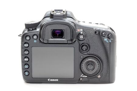 Rome, Italy - March 06, 2019: Canon 7D dslr camera beautiful still life