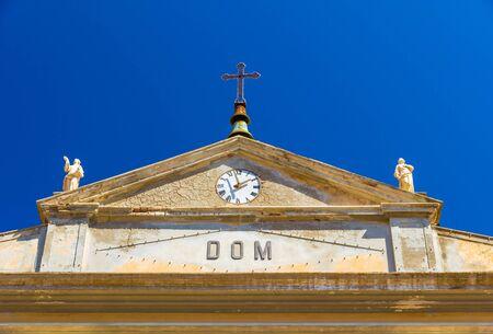 The Giacomo and Quirico Saints Church in Rio nellElba in summer, Italy