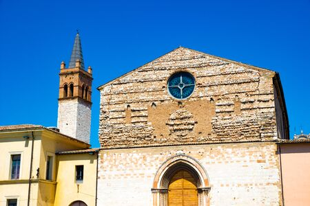 Foligno (PG), Umbria, Italy. The former San Domenico Church, now an Auditorium, in a summer sunny day