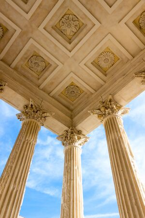 The Maison Carree (square house) is an ancient Roman temple in Nimes, southern France Stock fotó