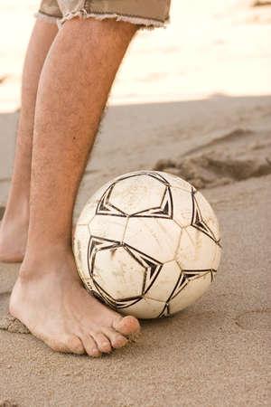 sportsperson: Portrait of a Hispanic man playing soccer.