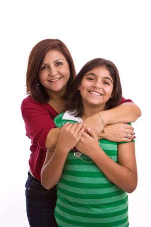 幸せなヒスパニック系の母と娘。 写真素材