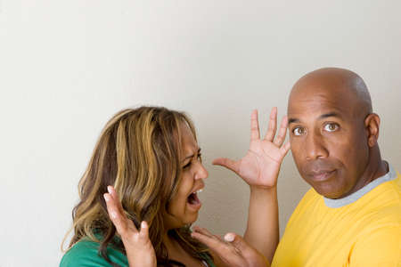 Unhappy couple arguing and having relationship problems. Stock Photo - 74899796