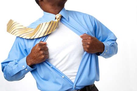 アフリカ系アメリカ人のスーパー ヒーローの実業家。 写真素材 - 79414272