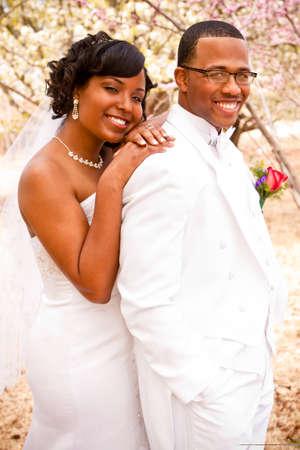 結婚式当日の新郎新婦