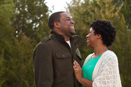 african american woman: Portrait of an African American loving couple. Stock Photo