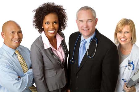 Equipe diversificada de profissionais de saúde Foto de archivo - 83785076