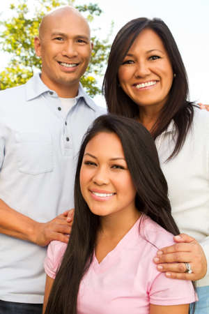 Happy Asian Family. Stock Photo