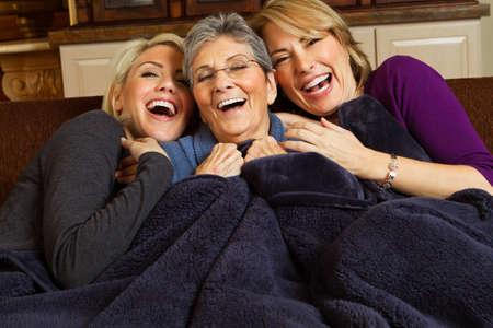 女性の 3 世代の家族。 写真素材