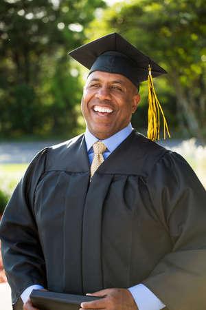 中年男卒業 写真素材
