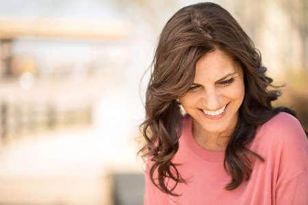 Beautiful mature woman smiling.