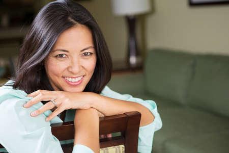 Portrait of an Asian woman smiling. 免版税图像