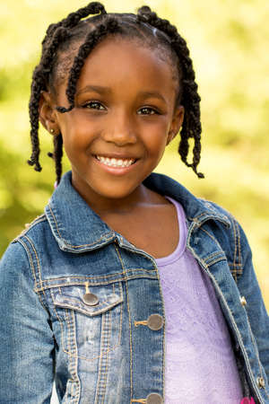 Cute African American little girl.