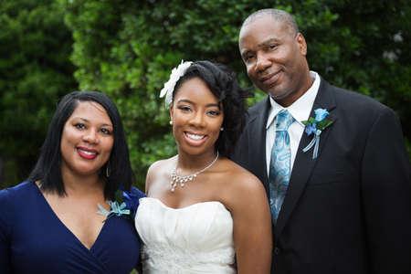 신부와 그녀의 가족.