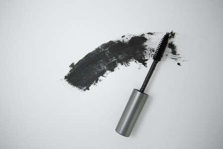 Black mascara brush. Stock Photo