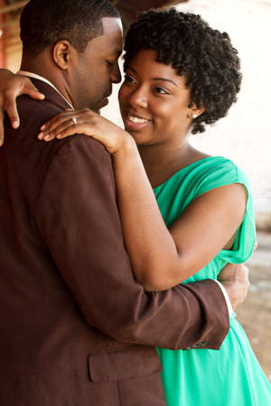 Portrait of an African American loving couple. Stock Photo