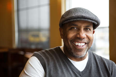 Portrait of a mature African American man. Stock Photo