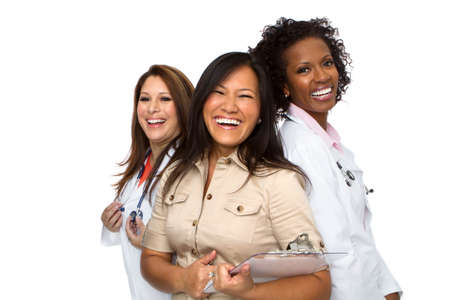 Medical Female Doctors. Stock Photo