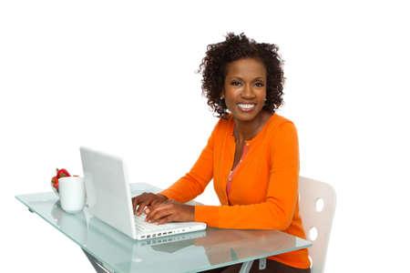 Successful Businesswoman With Laptop Reklamní fotografie
