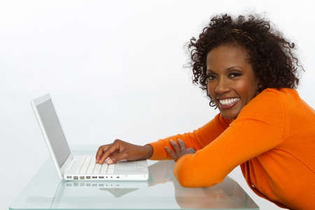 Successful Businesswoman With Laptop 版權商用圖片