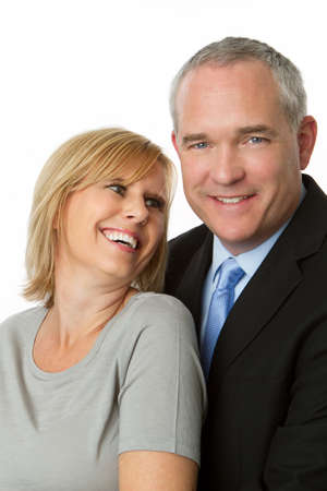 Well dressed mature couple. Stock Photo