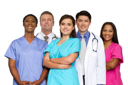 Diverse group of healthcare providers.
