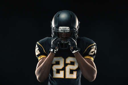 African American football player. Stock Photo