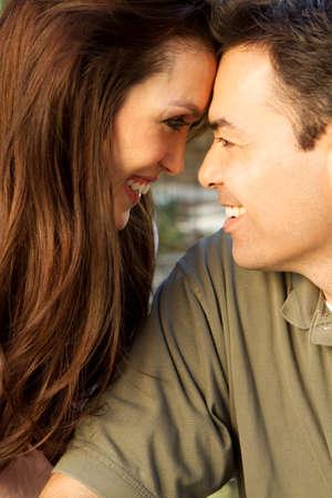 Happy Hispanic Couple Stock Photo