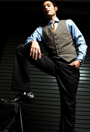 Fashionable Well Dressed Man Isolated