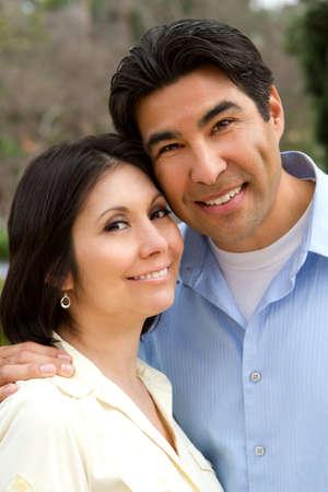 Happy Hispanic couple. Stock Photo