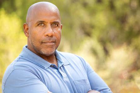 Mature African American man.