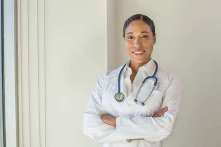 Portrait of an African American female doctor.