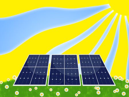 Illustration of solar panel for renewable energy