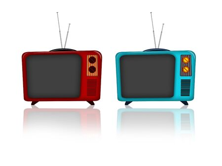 Illustration of an old television retro style Фото со стока