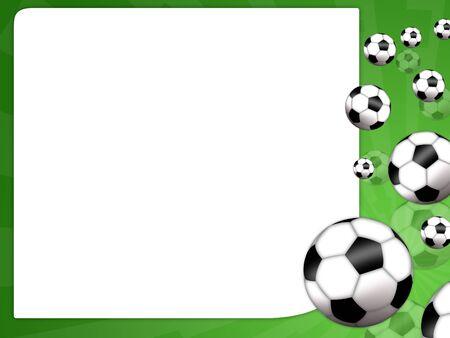 Illustration eines Fu�ball-Spiel f�r den Fu�ball