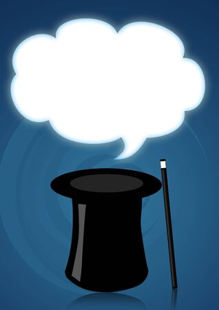 Illustration of a magic hat for magician shows Stock Photo