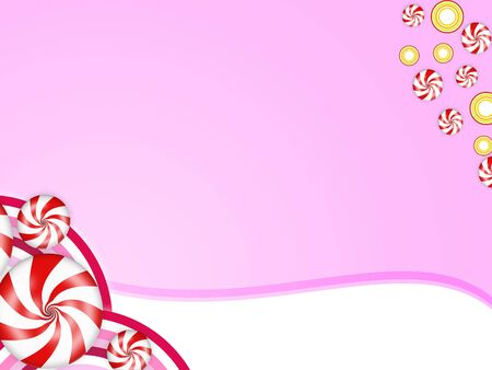 Illustration der s��en Bonbons mit roten Streifen