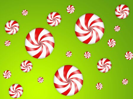 illustration of sweet candies with red stripes