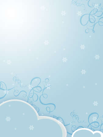 snowbank: illustration of a snow background for winter Stock Photo