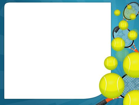 tennis racquet: Illustration of an isolated tennis ball