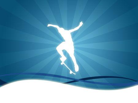 Skate-Sport-Hintergrund