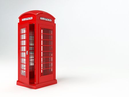 Rendering of a red london telophone box Stock Photo - 3397124