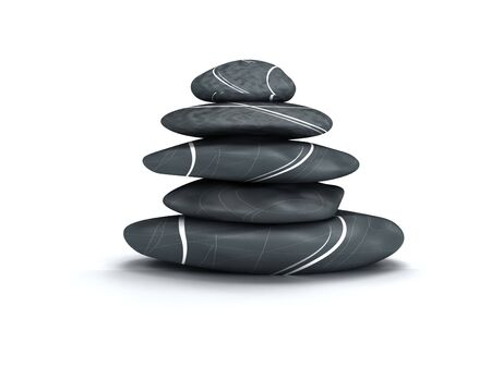 3d render of some relaxing stones Imagens