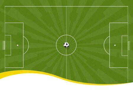 Antecedentes ilustración de un verde campo de fútbol con un balón de fútbol  Foto de archivo - 3397163