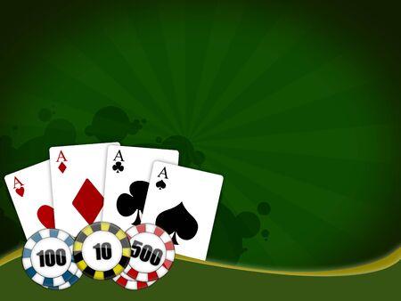 Abbildung mit dem Thema der das Pokerspiel