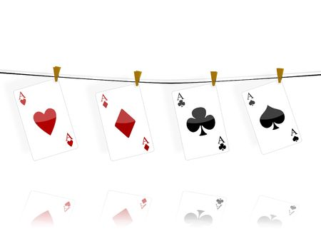 lasvegas: Illustration with the subject of the poker game Stock Photo