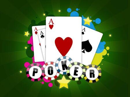 Abbildung mit dem Thema des Pokers  Lizenzfreie Bilder