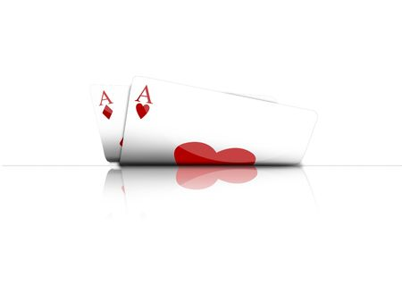Illustration with the subject of the poker game Stock Photo