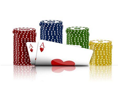 soumis: Illustration avec l'objet de la jeu de poker Banque d'images