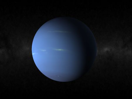 3d rendering of the planet neptune